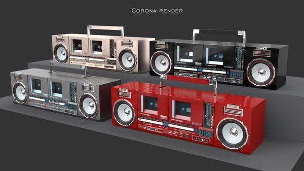cassette recorder 3d obj