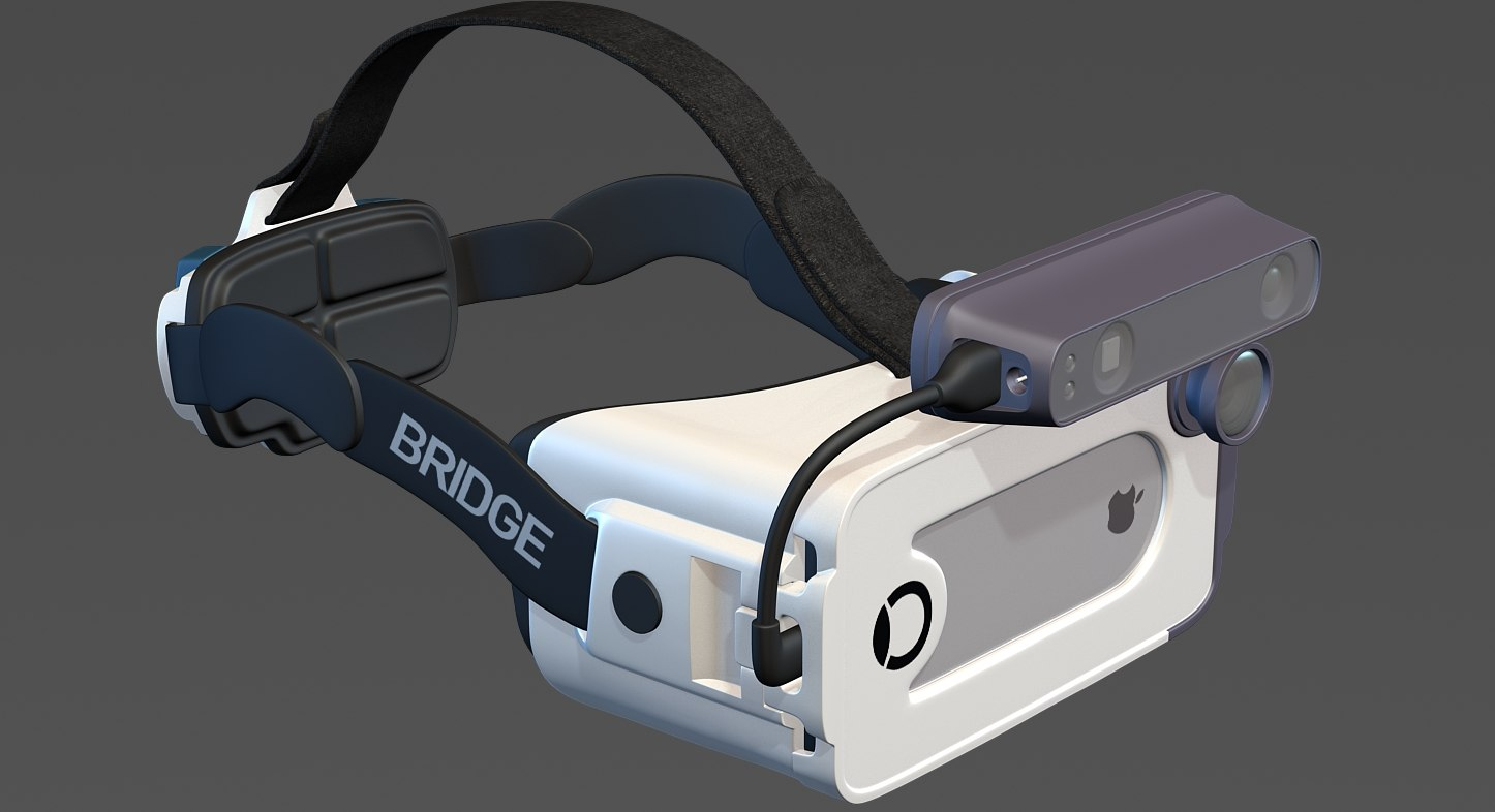 3d occipital bridge headset model