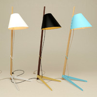 3d floor lamp lights model