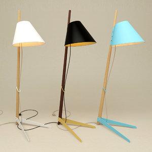3d floor lamp lights