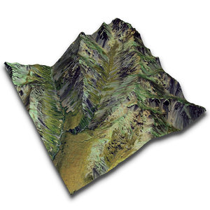 3d real terrain satellite lat-43 model