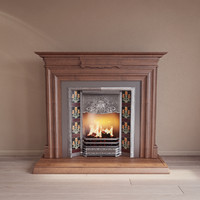 classical fireplace dxf