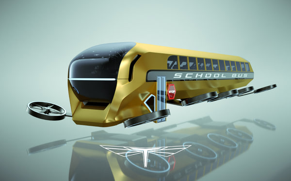 hover school bus 3d max