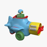 plastic airplane toy 3d model