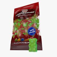 gummy bears bag 3d model