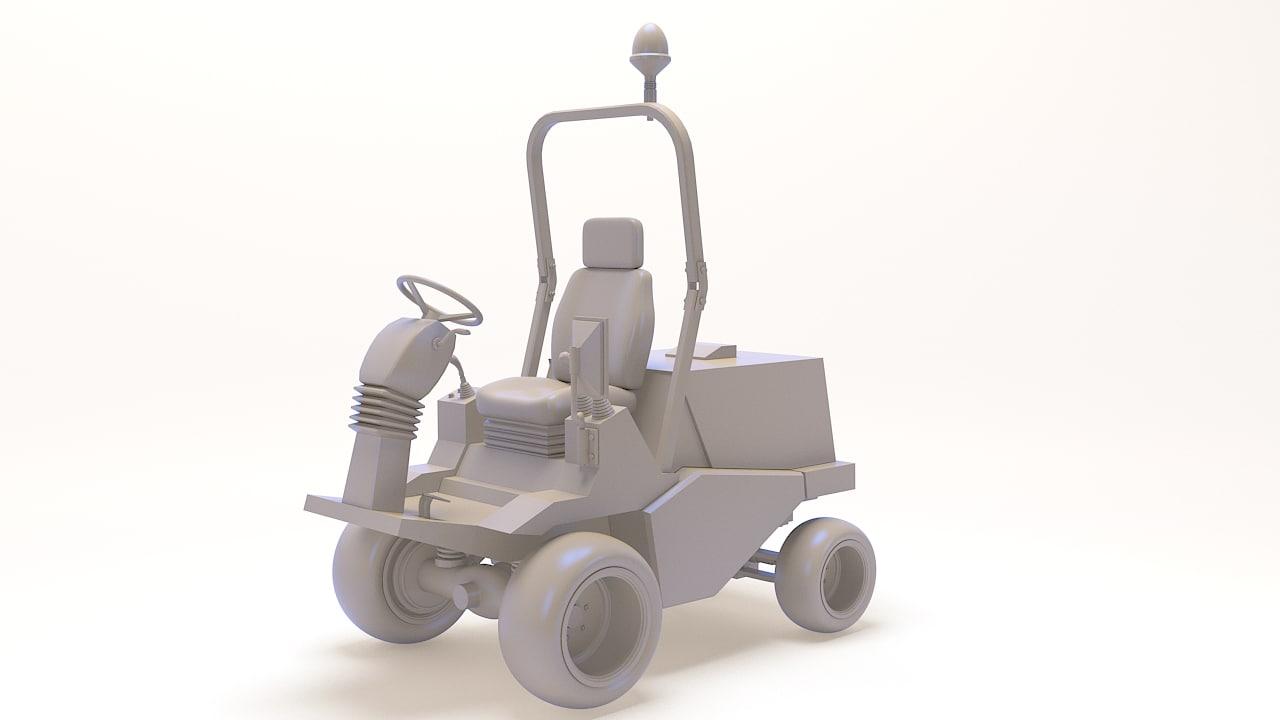 3d tractors model