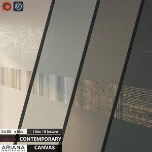 3d tile ariana canvas set model