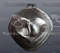3d heart love infinity