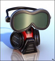 3d gas mask cartoon model