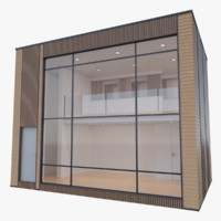 3d model modern micro home interior