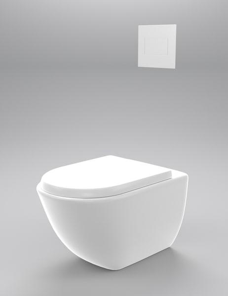 wall hung toilet 3d model