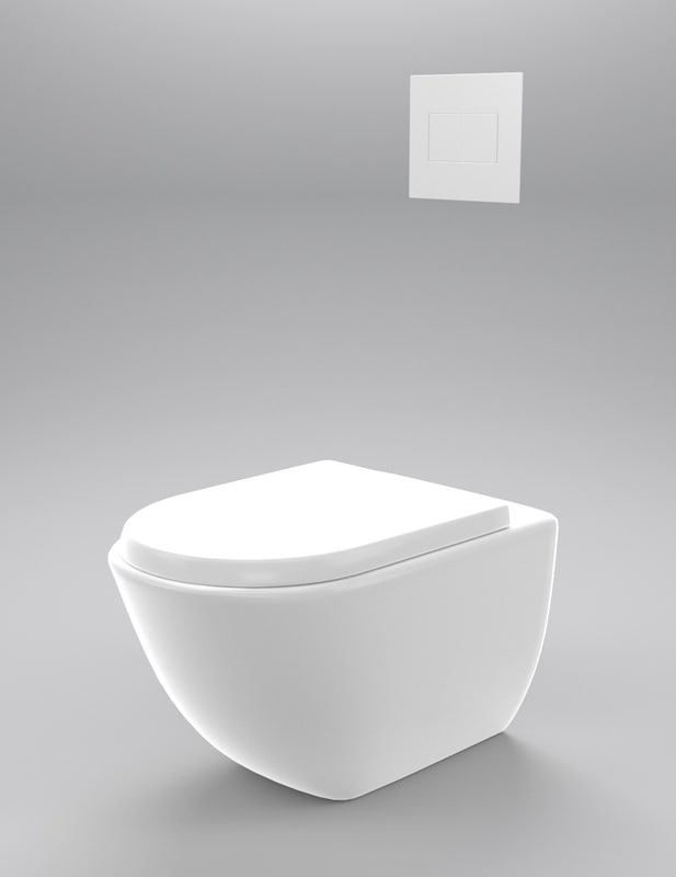 wall hung toilet 3d model