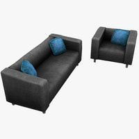 3ds double sofa armchair