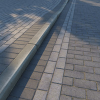 Paving slabs and curb v2