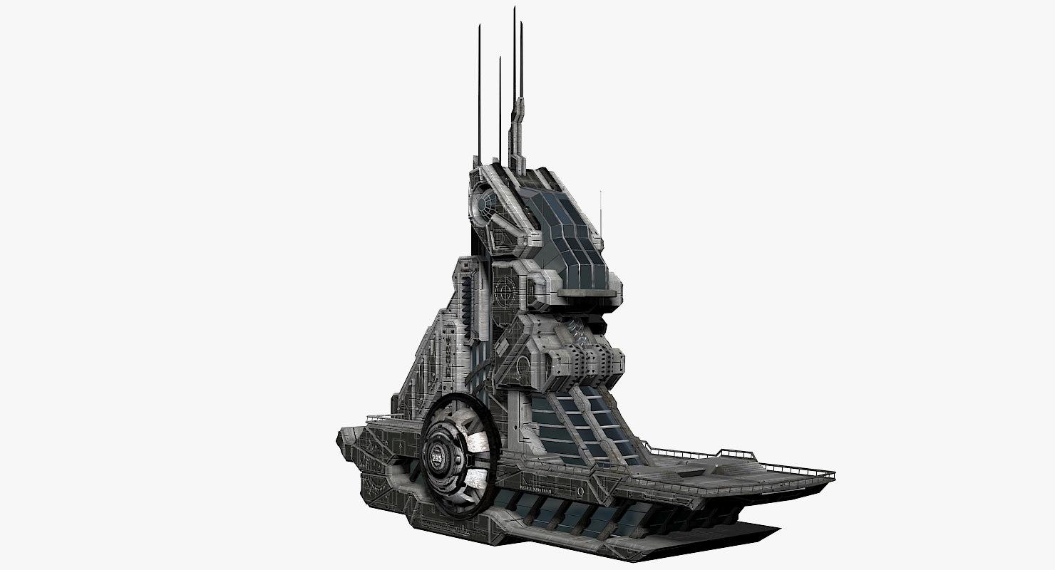 sci-fi building dxf