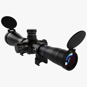 scope rifle 3d max