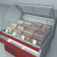 custom refrigerated showcase aspic max