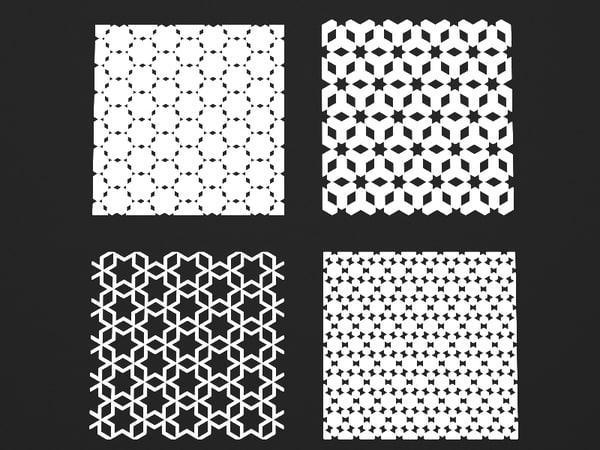 patterns wall 3d model