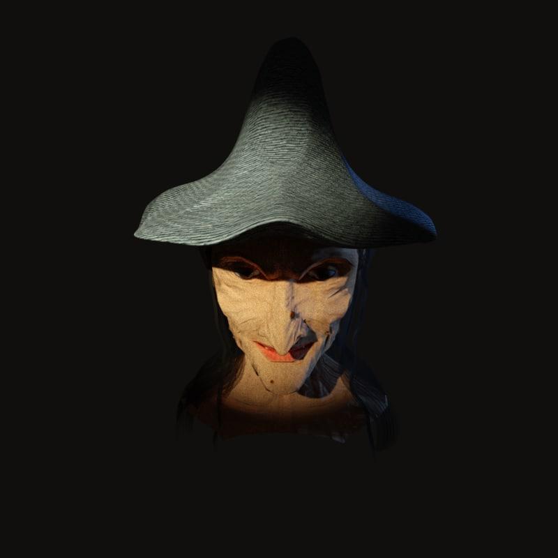 3d model witch baba yaga