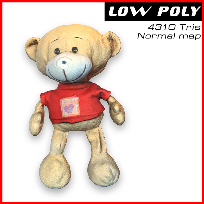 obj toy bear