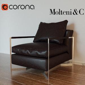molteni portfolio armchair chair max