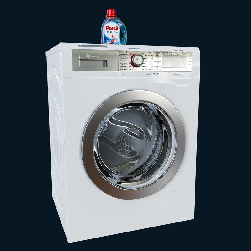 3d model washing bosch way 32891