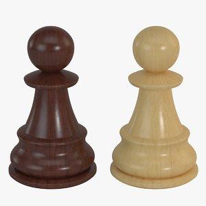 pawn - 3d model