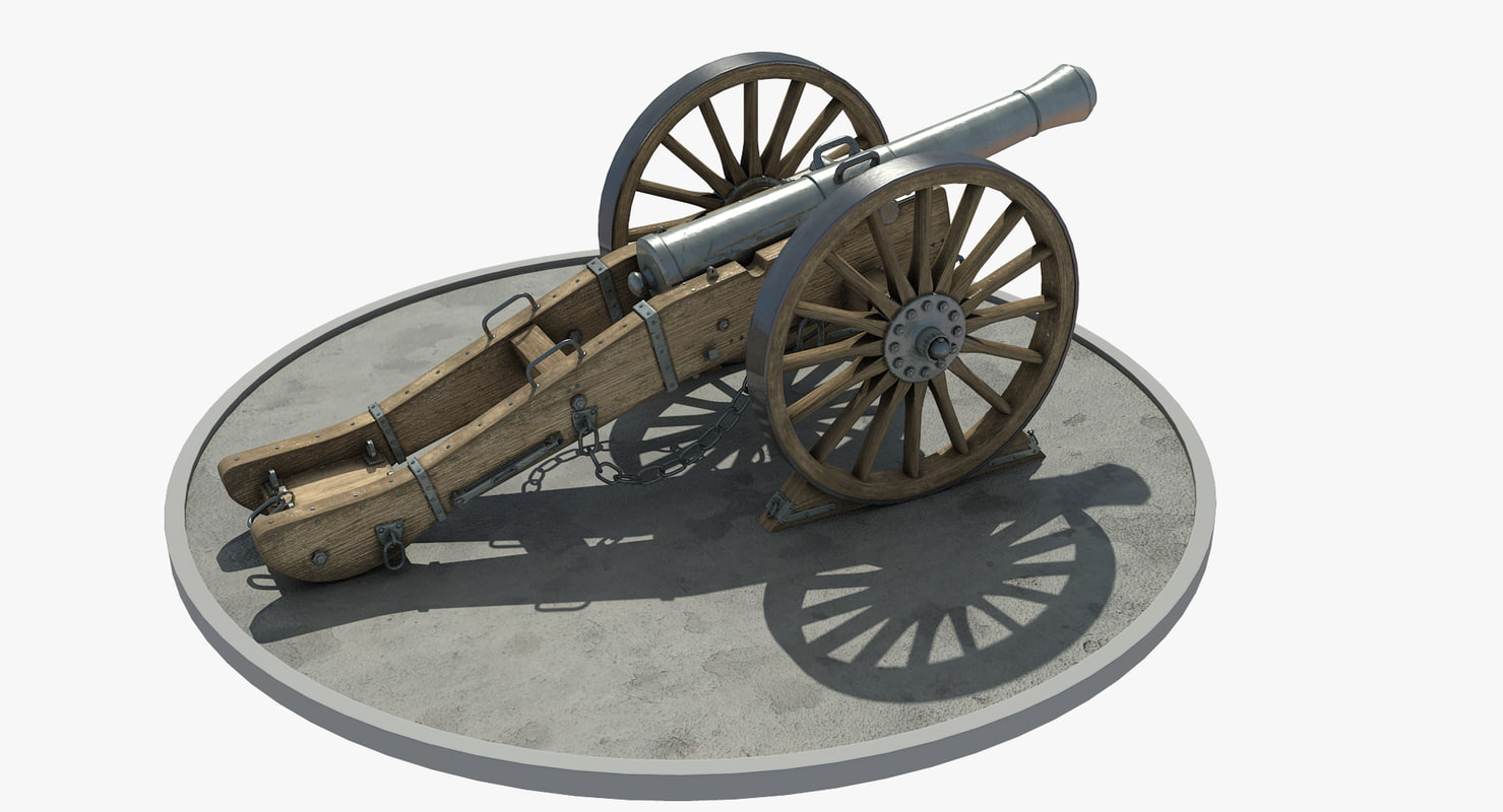 medieval cannon 3d max