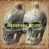 3d skull candle model