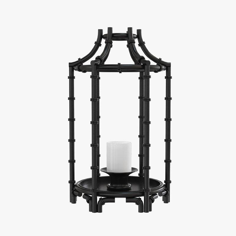 black metal candlestick 3d max