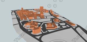 alabdali islamic hospital massing 3d model
