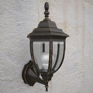 max glass metal wall lamp