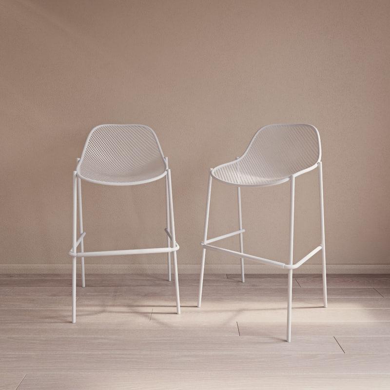 3d co2467 emu bar stool