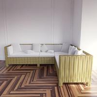 taglio verde outdoor sofa 3d model