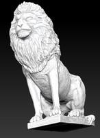 3d statue lion