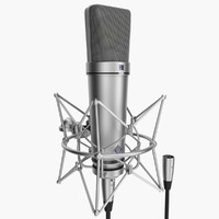 Neumann U87 Ai With XLR (Rigged)
