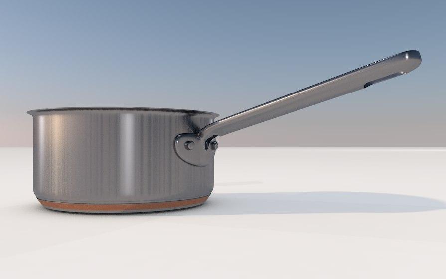 3d pot kitchen stove model