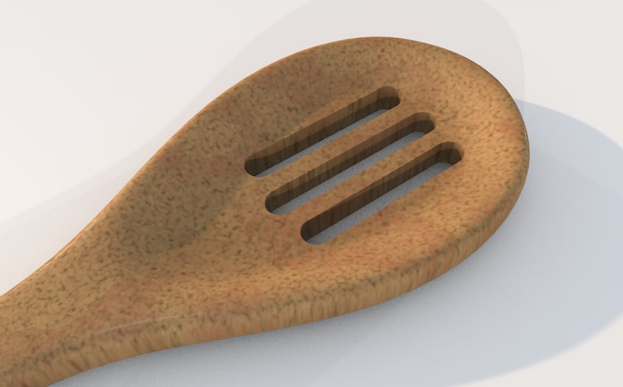 3d model spoon wood