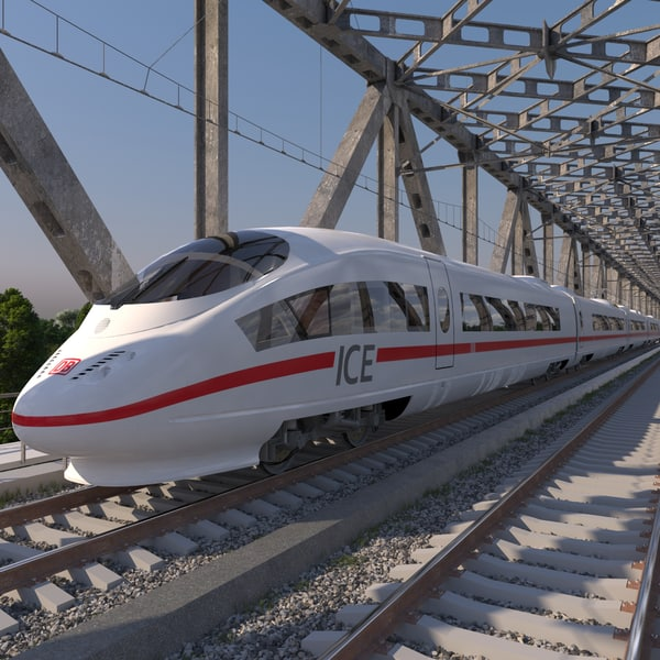 high-speed electric train ice 3d 3ds