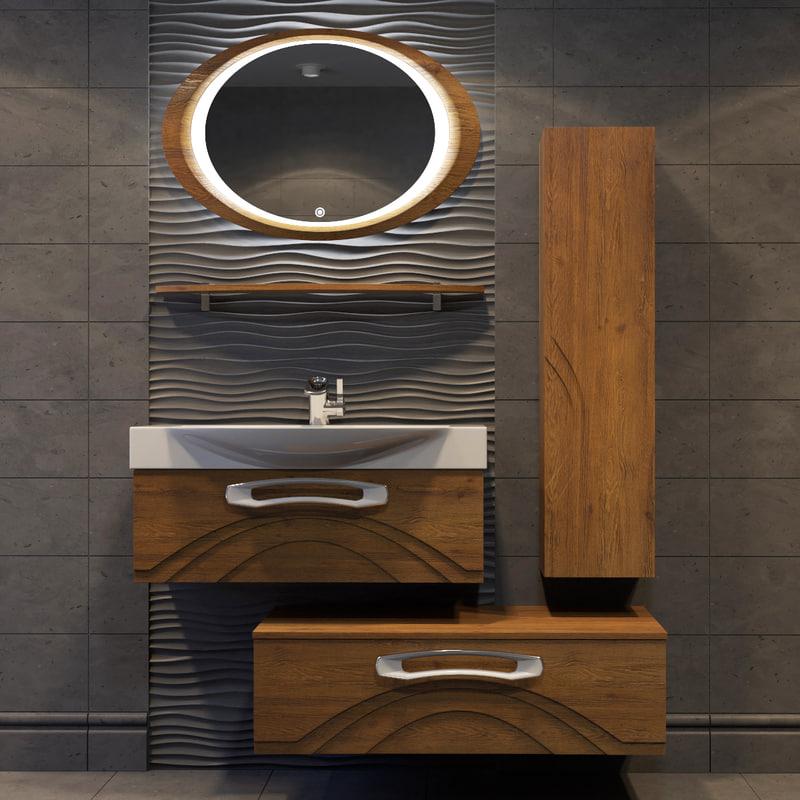 concept bathroom furniture 3d model