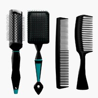 comb handle hair c4d
