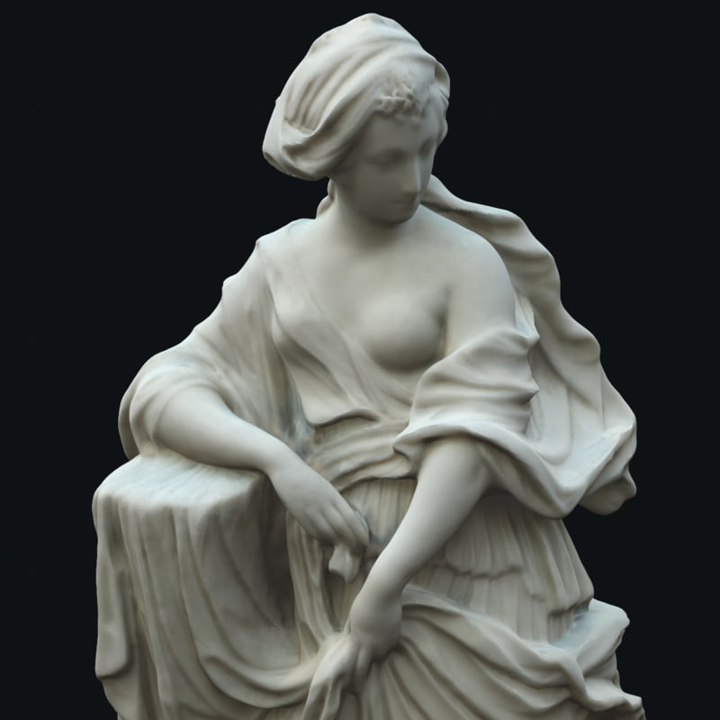 statue flora 3d obj