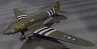 3d model plane douglas c-53 skytrooper