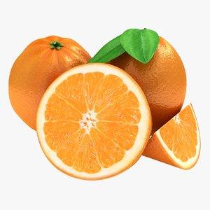 3d model of orange