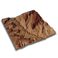 Geo Satellite Terrain - Antilope Canyon EEUU