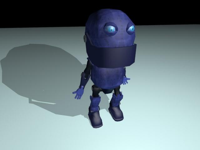 free robot 3d model