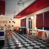 3d model of diner