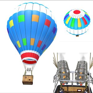 3d air balloon model