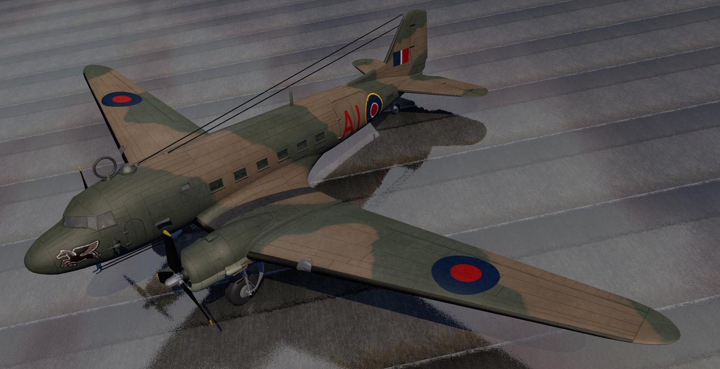 plane douglas c-47 dakota 3d model