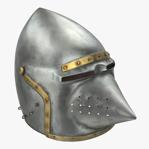 3d model houndskull bascinet helmet